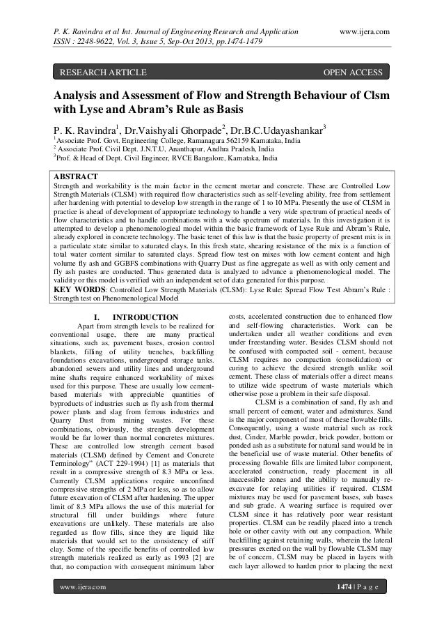 P. K. Ravindra et al Int. Journal of Engineering Research and Application ISSN : 2248-9622, Vol. 3, Issue 5, Sep-Oct 2013,...