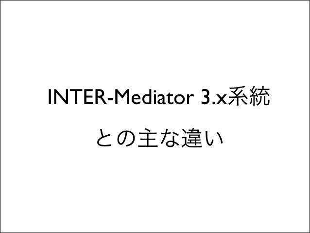 FileMakerユーザー向けのINTER-Mediator 4.0の新機能 Slide 3