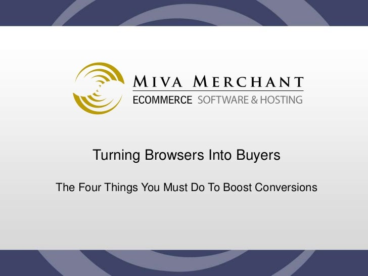 Turning Browsers into Buyers slideshare - 웹