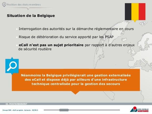 Position des états membres  Situation de la Belgique    Interrogation des autorités sur la démarche réglementaire en cour...