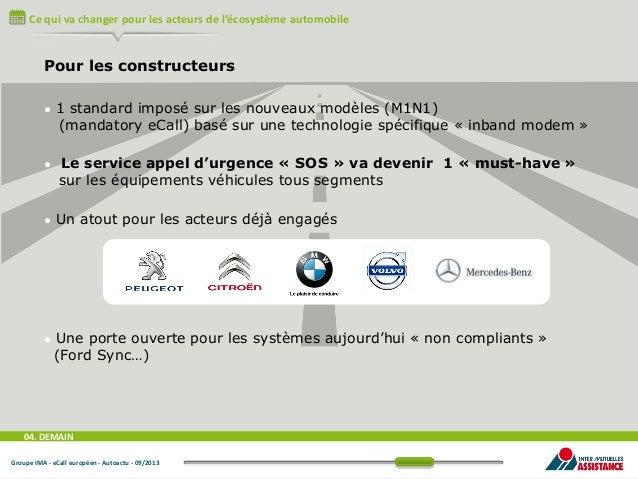 Ce qui va changer pour les acteurs de l'écosystème automobile  Pour les constructeurs •  •  1 standard imposé sur les nouv...