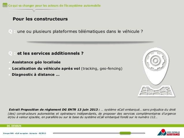 Ce qui va changer pour les acteurs de l'écosystème automobile  Pour les constructeurs  Q : une ou plusieurs plateformes té...