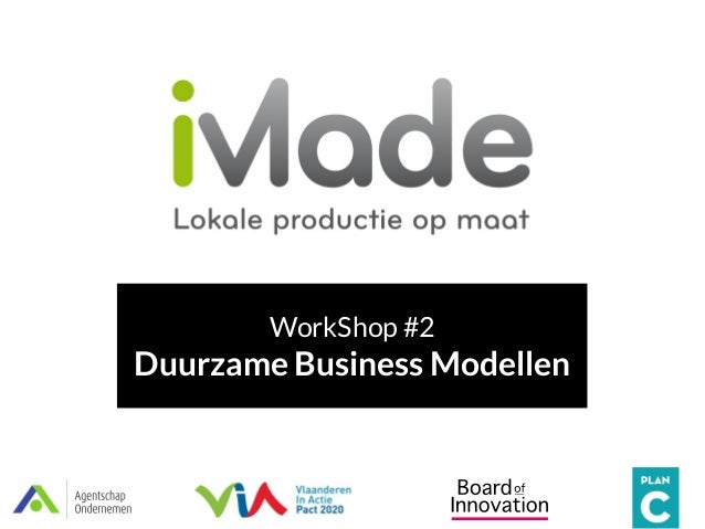 WorkShop #2 Duurzame Business Modellen