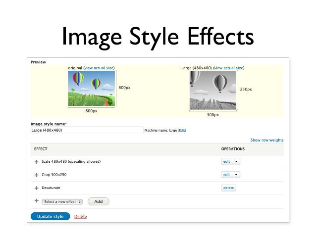 Image Style Effects