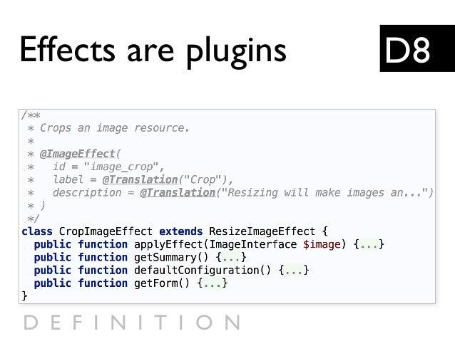 D8Effects are plugins D E F I N I T I O N