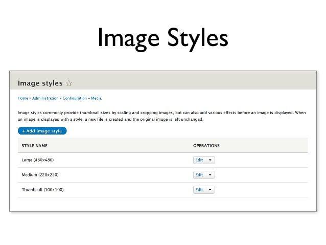 Image Styles