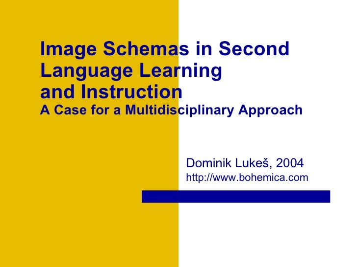 Image Schemas in Second Language Learning  and Instruction A Case for a Multidisciplinary Approach  Dominik Luke š , 2004 ...