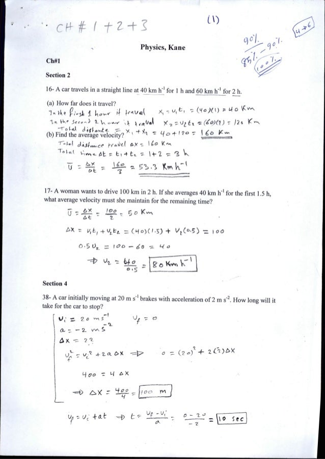 Chapter1: Motion in straight line