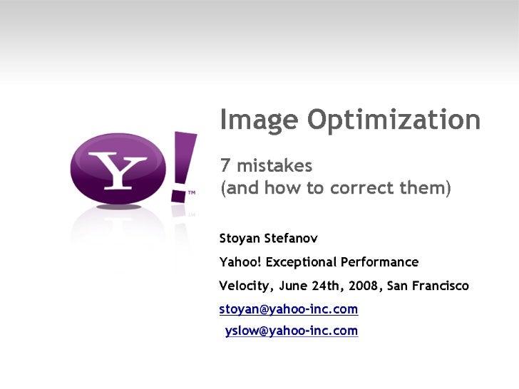 Image Optimization - 7 mistakes