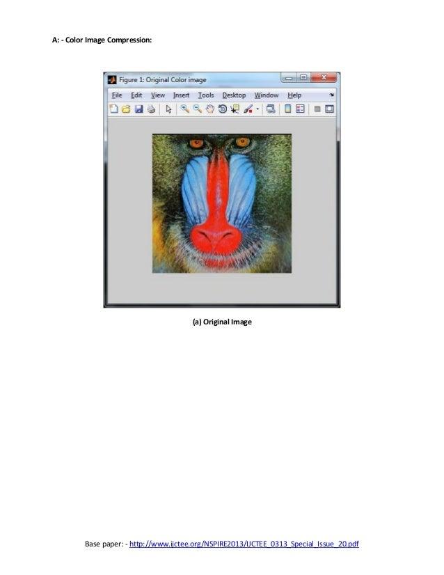 Image compression using wavelet transform thesis proposal