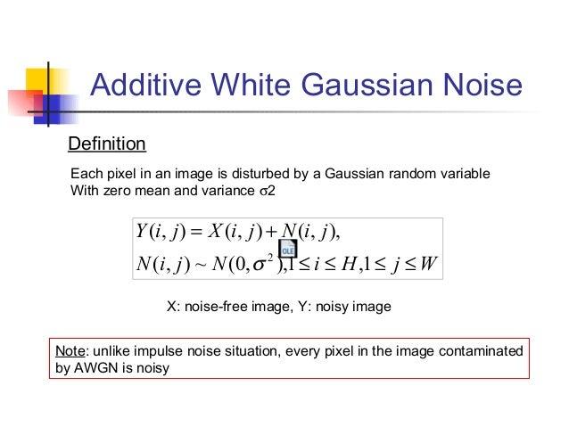 Addittive white gausian nois ( awgn).