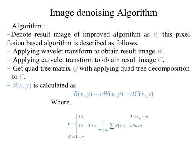 Curvelet transform image denoising pdf