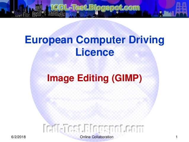 ICDL Image Editing (GIMP)