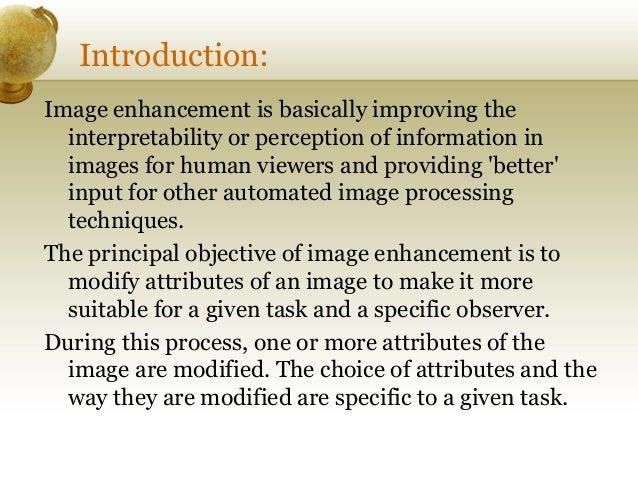 Thesis on image enhancement techniques