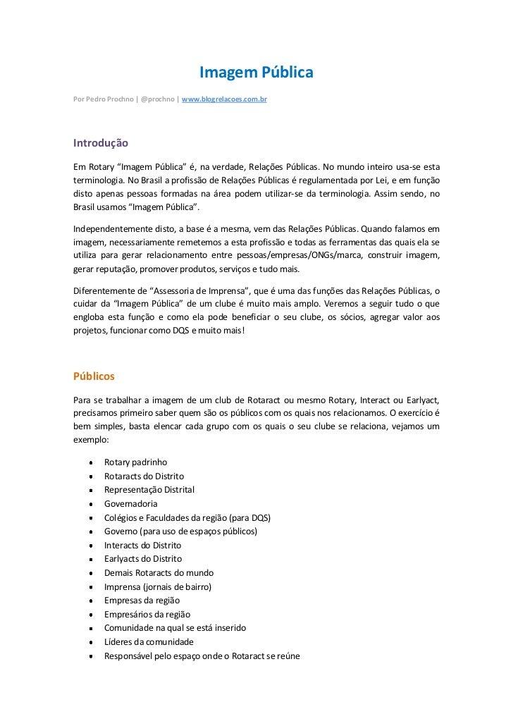 Manual de Imagem Pública | Rotaract