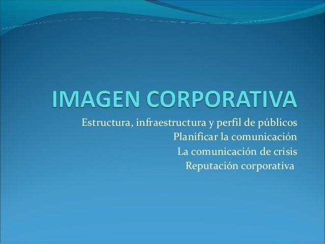 Estructura, infraestructura y perfil de públicos Planificar la comunicación La comunicación de crisis Reputación corporati...