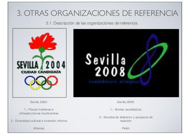 3. OTRAS ORGANIZACIONES DE REFERENCIA 3.1. Descripción de las organizaciones de referencia  Sevilla 2004:  Sevilla 2008:  ...