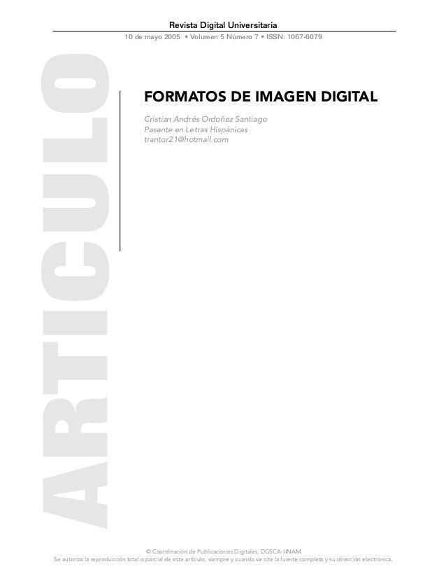 Revista Digital Universitaria                           10 de mayo 2005 • Volumen 5 Número 7 • ISSN: 1067-6079            ...