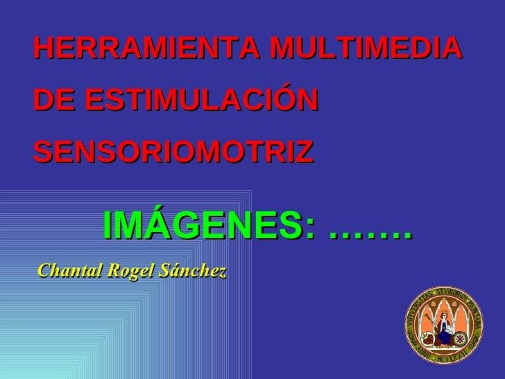 HERRAMIENTA MULTIMEDIA  DE ESTIMULACIÓN SENSORIOMOTRIZ <ul><li>Chantal Rogel Sánchez </li></ul>IMÁGENES: …….