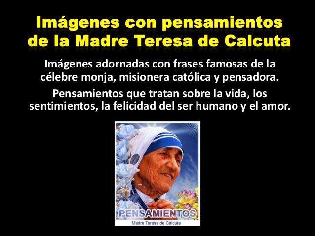 Imagenes Con Pensamientos De La Madre Teresa De Calcuta