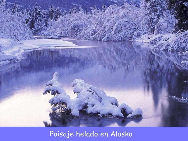 Paisaje helado en Alaska