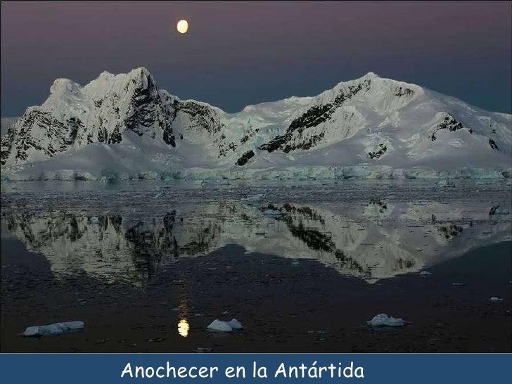 Anochecer en la Antártida