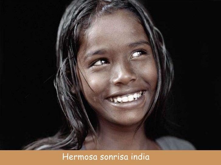 Hermosa sonrisa india