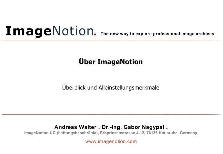 Über ImageNotion Überblick und Alleinstellungsmerkmale