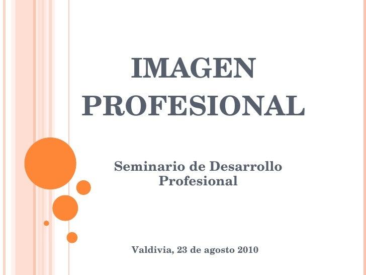 IMAGEN PROFESIONAL Seminario de Desarrollo Profesional Valdivia, 23 de agosto 2010