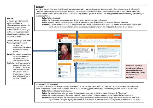 IMAGEN La imagen que elijamos para nuestro perfil aporta información sobre nosotros. En eTwinning, al igual que en muchas ...