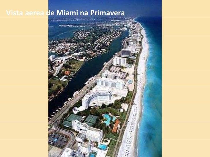 Vista aerea de Miami na Primavera