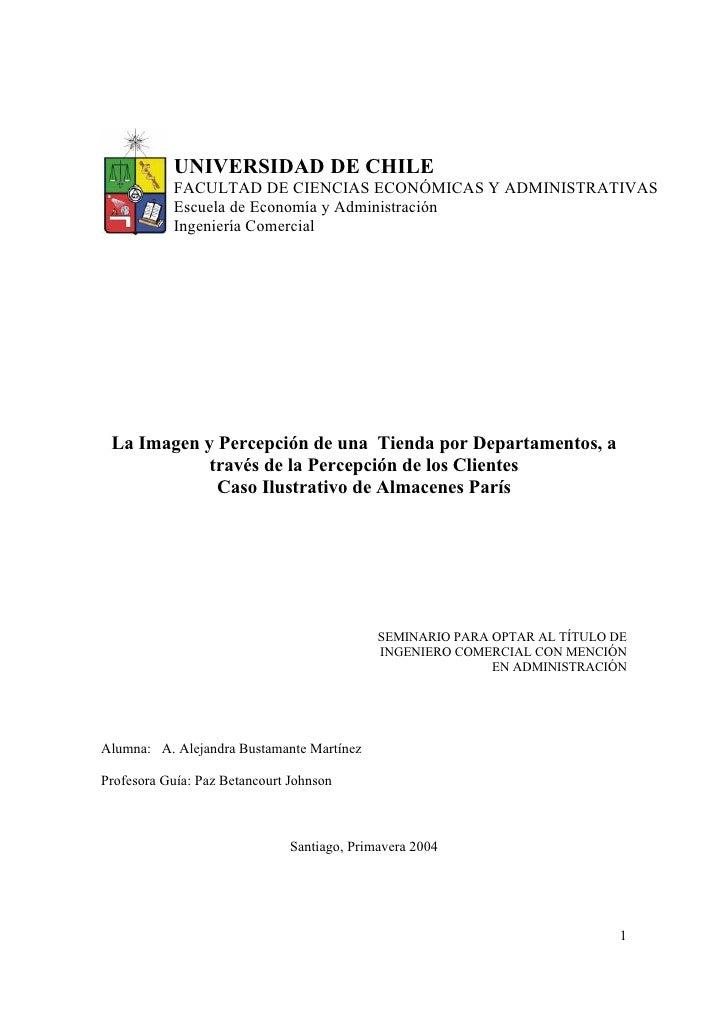 UNIVERSIDAD DE CHILE           FACULTAD DE CIENCIAS ECONÓMICAS Y ADMINISTRATIVAS           Escuela de Economía y Administr...