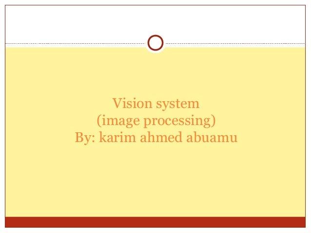 Vision system   (image processing)By: karim ahmed abuamu