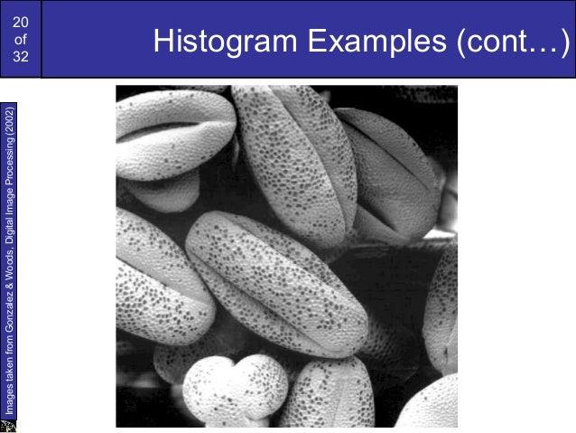 20of32Histogram Examples (cont…)ImagestakenfromGonzalez&Woods,DigitalImageProcessing(2002)