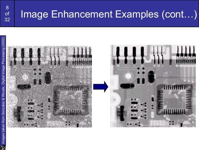 8of32Image Enhancement Examples (cont…)ImagestakenfromGonzalez&Woods,DigitalImageProcessing(2002)