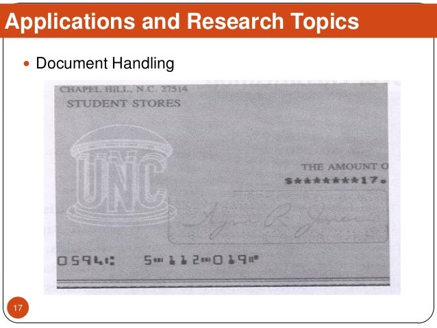  Document Handling Applications and Research Topics 17