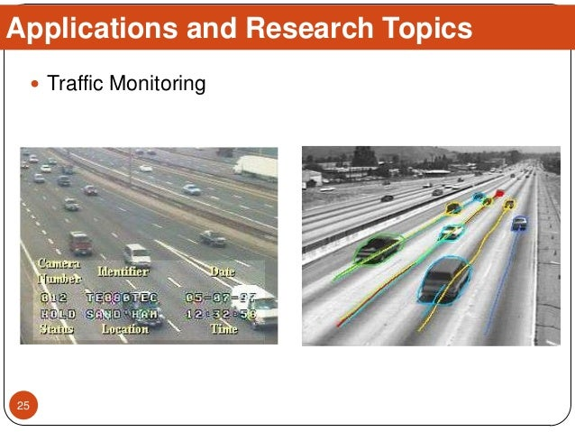  Traffic Monitoring Applications and Research Topics 25