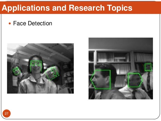  Face Detection Applications and Research Topics 27