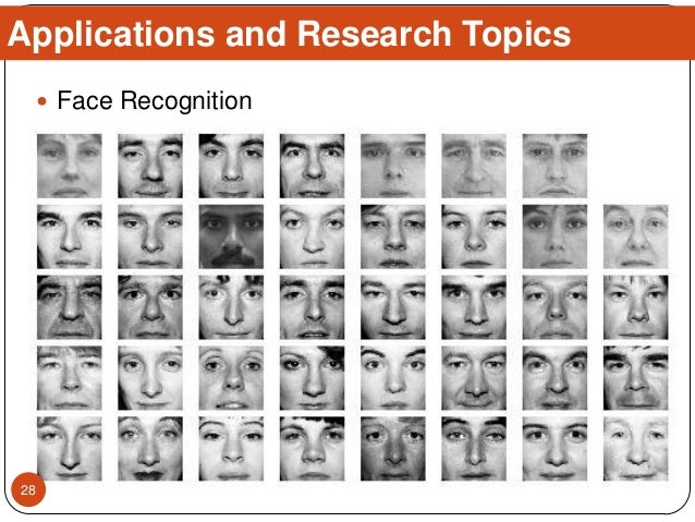  Face Recognition Applications and Research Topics 28