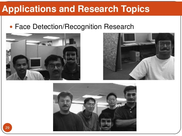  Face Detection/Recognition Research Applications and Research Topics 29