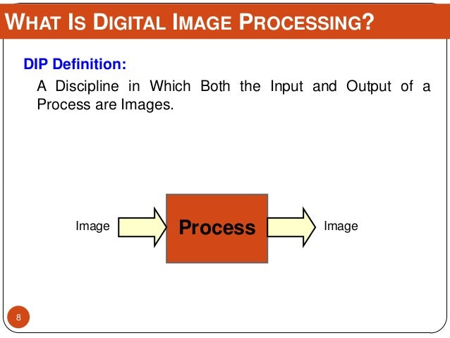 DIP Definition: A Discipline in Which Both the Input and Output of a Process are Images. WHAT IS DIGITAL IMAGE PROCESSING?...