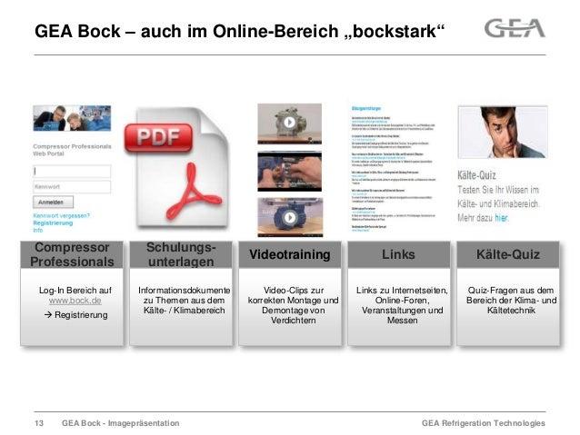 """GEA Refrigeration TechnologiesGEA Bock - ImagepräsentationGEA Bock – auch im Online-Bereich """"bockstark""""CompressorProfessio..."""
