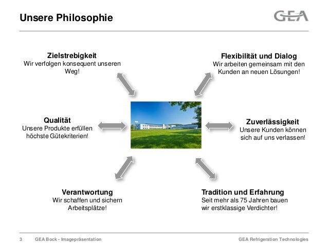 GEA Refrigeration TechnologiesGEA Bock - ImagepräsentationUnsere PhilosophieZielstrebigkeitWir verfolgen konsequent unsere...