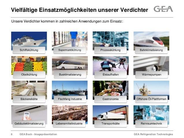 GEA Refrigeration TechnologiesGEA Bock - ImagepräsentationVielfältige Einsatzmöglichkeiten unserer VerdichterUnsere Verdic...