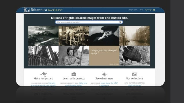 Image Quest Provides nearly 3 million rights-cleared images from more than 50 of the best collections in the world, includ...