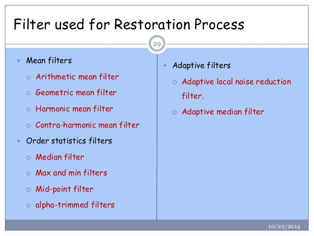 Image Restoration In Digital Image Processing Tutorial Point