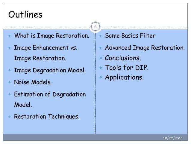 Image Restoration (Digital Image Processing)