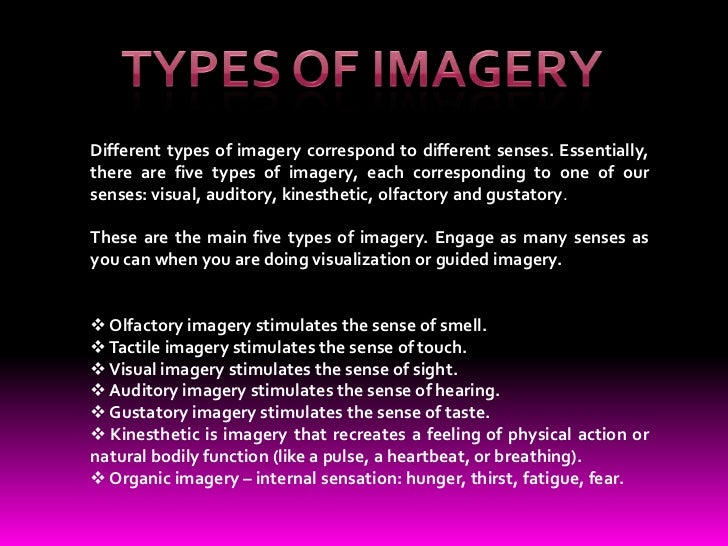 what is imagery used for