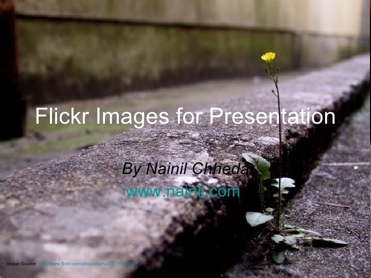 Flickr Images for Presentation By Nainil Chheda www.nainil.com   Image Source:  http://www.flickr.com/photos/jam343/170369...