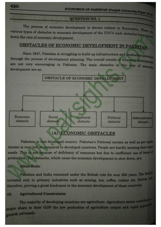 essay relating to pakistan personal economic expansion 2000 2010
